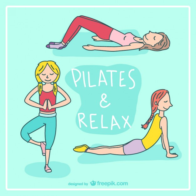 pilates-and-relax-cartoon-vector_23-2147498177